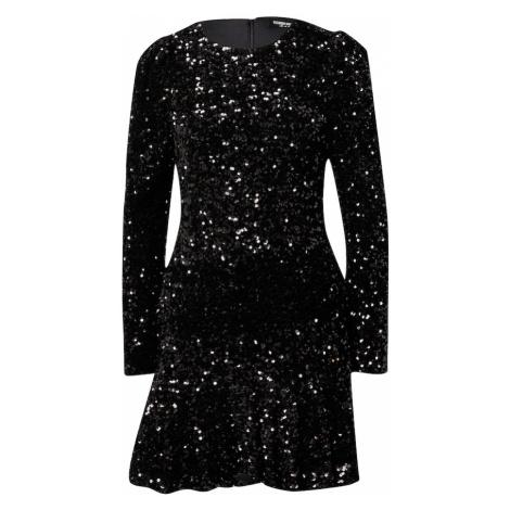 Fashion Union Sukienka 'Fiona' czarny / srebrny