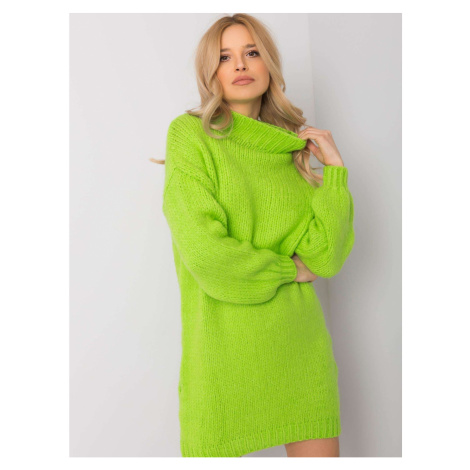 Green knitted dress