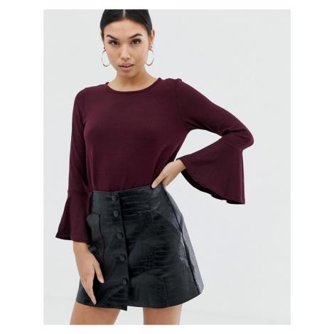 AX Paris flared sleeve long sleeve blouse