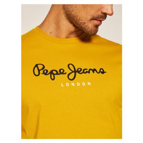 Pepe Jeans T-Shirt Eggo PM500465 Żółty Regular Fit