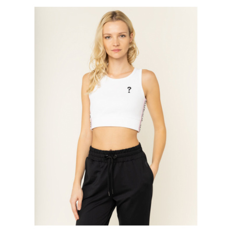 Guess Top Linda W01P96 K9JE0 Biały Slim Fit