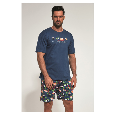 Ciemnoniebieska piżama Sushi Cornette