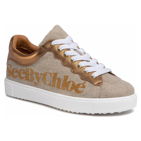 Sneakersy SEE BY CHLOÉ - SB34151A Fabric Oasi 030/Nappa Vintage 087/Logo Chloé