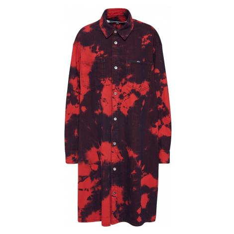 McQ Alexander McQueen Sukienka koszulowa 'Tatsuko Shirtdress' czerwony