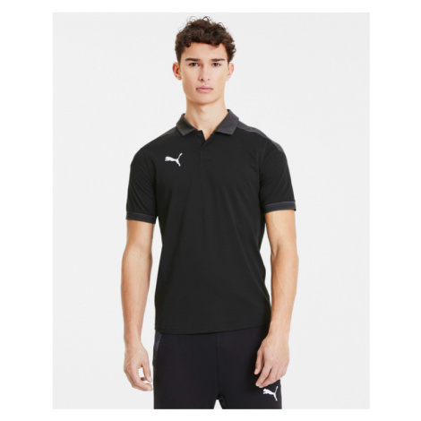 Puma teamFinal 21 Polo Koszulka Czarny