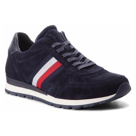 Sneakersy TOMMY HILFIGER - Luxury Suede Runner FM0FM01815 Midnight 403