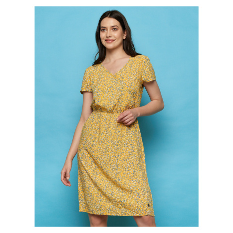 Tranquillo żółty kwiecista sukienka