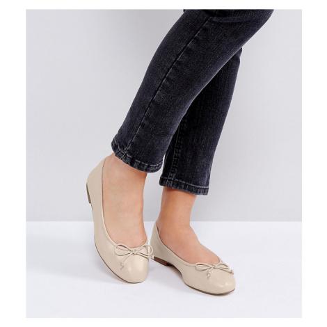 ASOS LIFESAVER Wide Fit Leather Ballet Flats