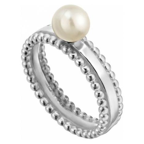Esprit Srebra pierścień syntetycznym perłowy proszek ESRG002011 (obwód 57 mm) srebro 925/1000