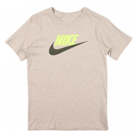 Nike Sportswear Koszulka szary / neonowo-żółty / khaki