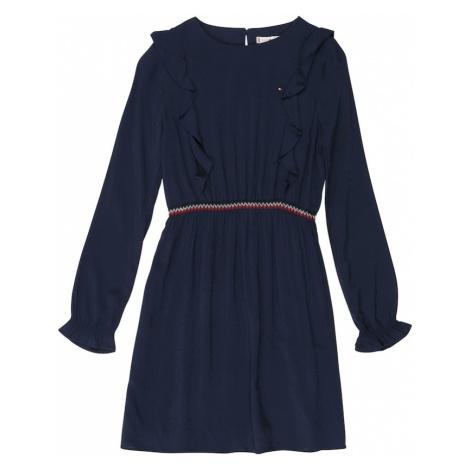 TOMMY HILFIGER Sukienka niebieska noc / biały / czerwony