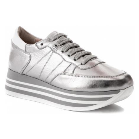 Eva Minge Sneakersy EM-11-05-000044 Srebrny