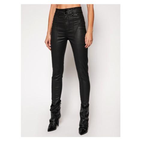 Guess Spodnie skórzane Corset Biker W1RA69 D3OZ1 Czarny Slim Fit