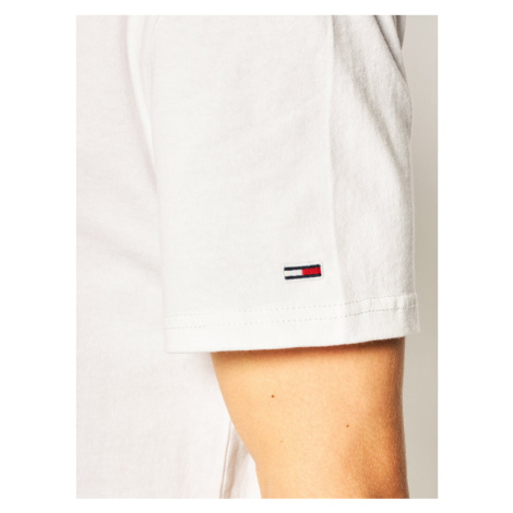 Tommy Jeans T-Shirt Text Back Logo Tee DM0DM07857 Biały Regular Fit Tommy Hilfiger