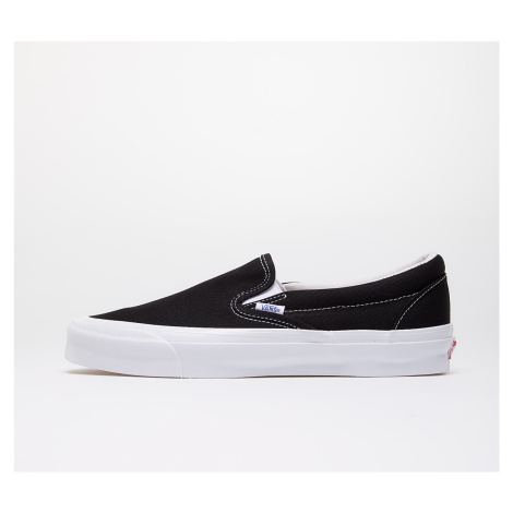 Vans OG Classic Slip-On (Canvas) Black/ True White