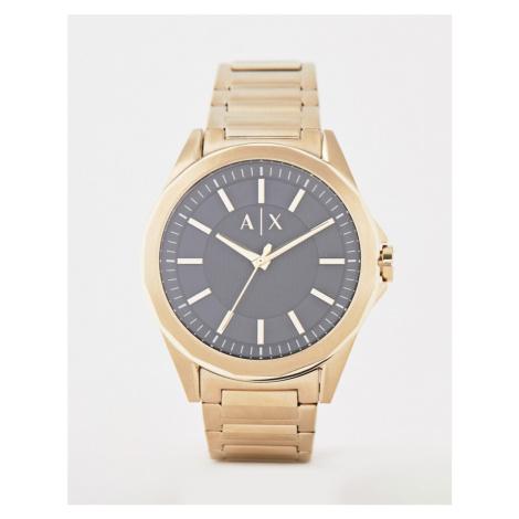 Armani Exchange AX2619 bracelet watch in gold 44mm
