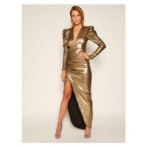 Babylon Sukienka wieczorowa S00946 Złoty Regular Fit