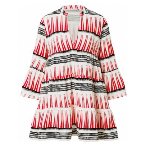 ONLY Sukienka koszulowa 'LUCCA' jasnoczerwony / czarny / biały
