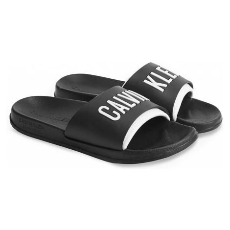 Calvin Klein czarny unisex klapki Slide