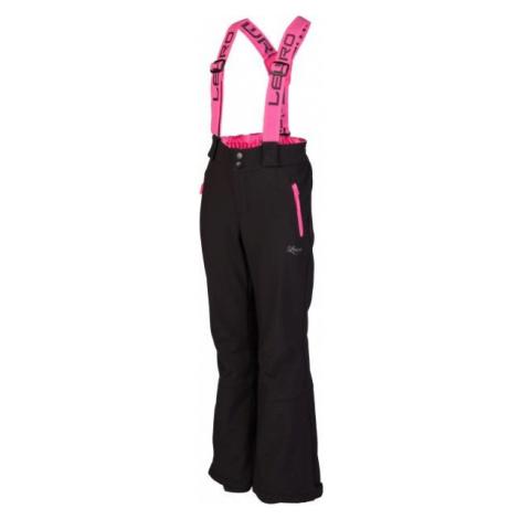 Lewro NUKA różowy 128-134 - Spodnie narciarskie dziecięce