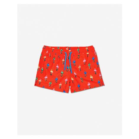 Happy Socks Flamingo Strój kąpielowy dziecięcy Czerwony