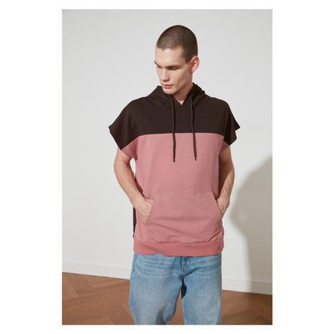 Bluza z krótkim rękawem Trendyol Rose Dry Men's Oversize z kapturem z kapturem