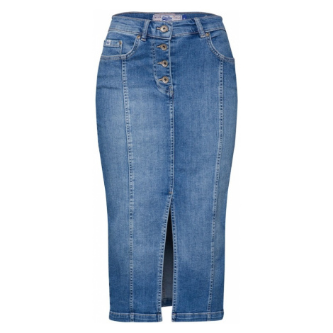 Superdry Spódnica niebieski denim