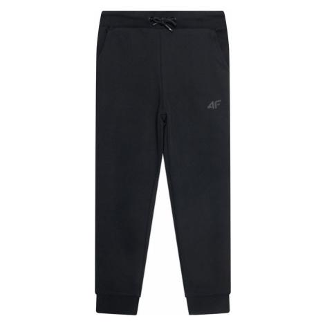 4F Spodnie dresowe JSPMD001 Czarny Regular Fit