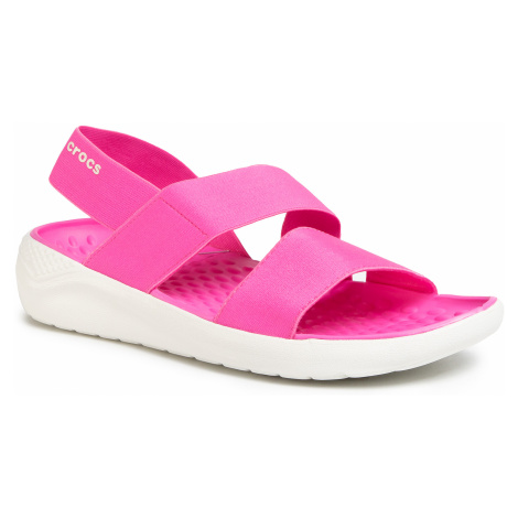 Sandały CROCS - Literide Streach Sandal W 206081 Electric Pink/Almost White