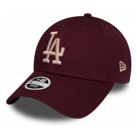 New Era 9FORTY W MLB MLB THE LEAGUE ESSENTIAL LOS ANGELES DODGERS bordowy  - Klubowa czapka z da