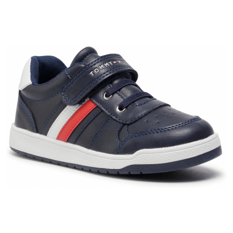 Sneakersy TOMMY HILFIGER - Low Cut Lace-Up T1B4 30908 0621X007 S Blue/White