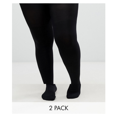 ASOS DESIGN curve 2 pack 140 denier tights new improved fit