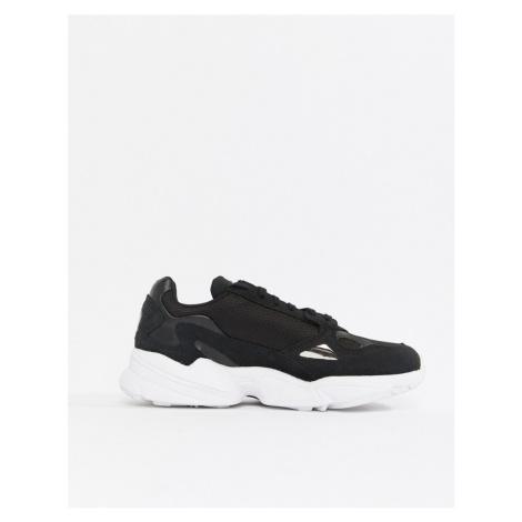 Adidas Originals Falcon Trainer In Black And White