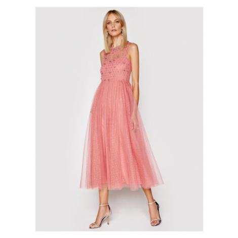 Red Valentino Sukienka koktajlowa VR0VA17U Różowy Regular Fit