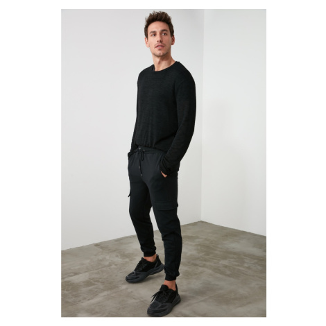 Trendyol Black Male Waist and Trousers PocketEd Tracksuit Bottom