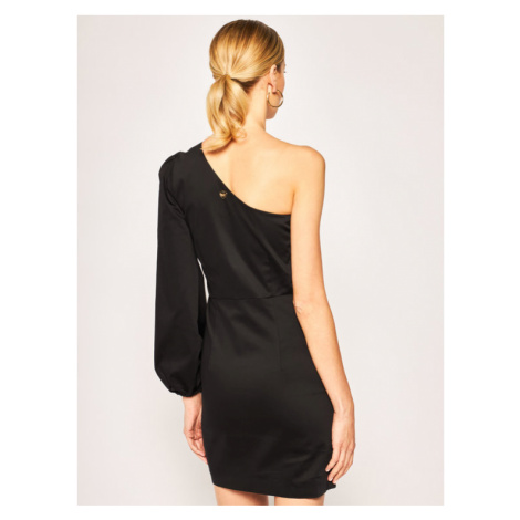 TwinSet Sukienka koktajlowa 201TT2231 Czarny Slim Fit