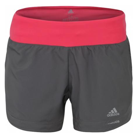 """ADIDAS PERFORMANCE Spodnie sportowe 'RUN IT SHORT W 3""""' szary / różowy"""