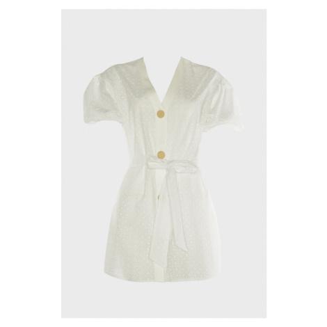Trendyol White Balloon Sleeve Shirt