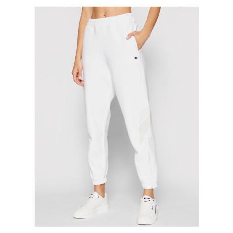 Champion Spodnie dresowe 114192 Biały Regular Fit