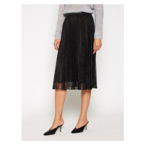 Marella Spódnica plisowana Emanuel 37760106 Czarny Regular Fit
