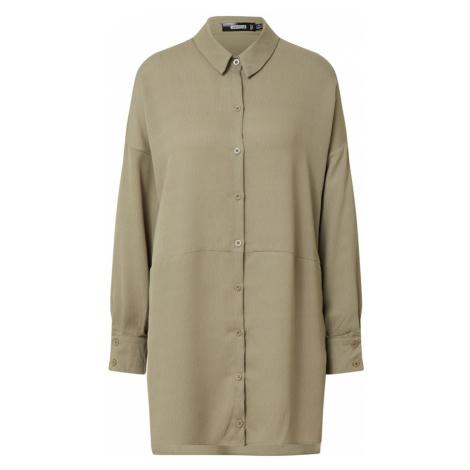 Missguided Sukienka koszulowa 'Textured Utility Shirt Dress' trzcina