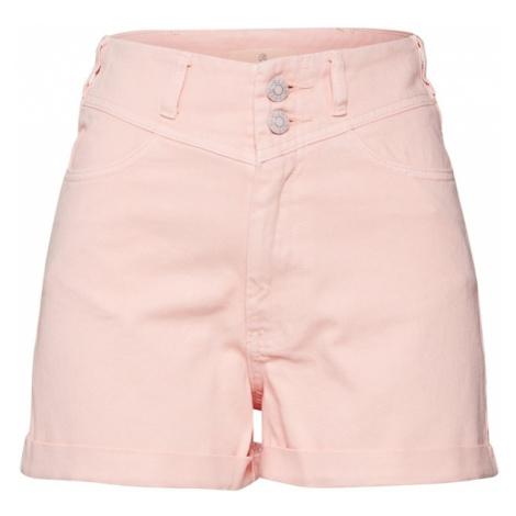 Review Jeansy różowy pudrowy