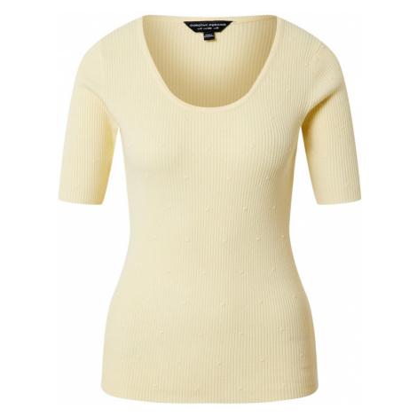 Dorothy Perkins Koszulka 'Ivory Dobby' żółty