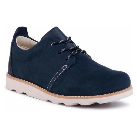 Półbuty CLARKS - Crown Park K 261405197 Navy Leather