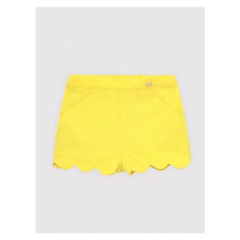żółte dziewczęce krótkie spodenki i szorty