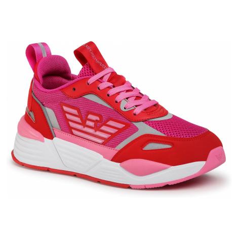 Sneakersy EMPORIO ARMANI - X3X126 XM521 N190 Raspeberry Rose/True