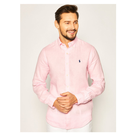 Lauren Ralph Lauren Koszula Classics 710794142 Różowy Slim Fit