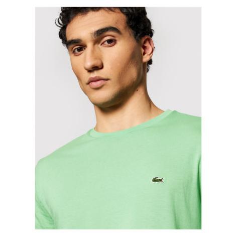 Lacoste T-Shirt TH6709 Zielony Regular Fit