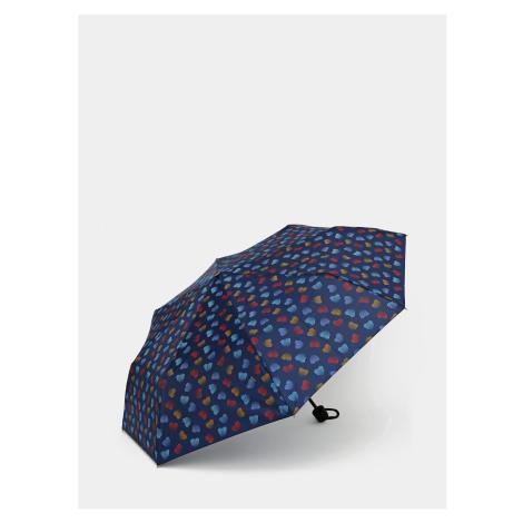 Dark Blue Patterned Folding Umbrella Doppler