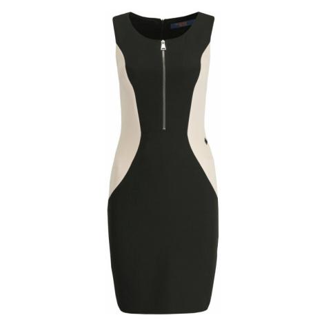 Trussardi Jeans Sukienka koktajlowa 56D00268 Czarny Slim Fit